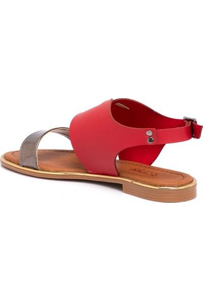 Tergan Teryy Kırmızı Vegan Kadın Sandalet 210026D64