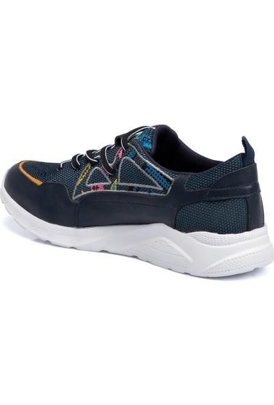 Tergan Teryy Lacivert Deri-Tekstil Erkek Ayakkabı 110026I49