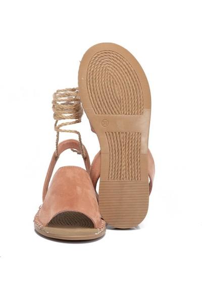 Tergan Teryy Pudra Vegan Kadın Sandalet 210113C63