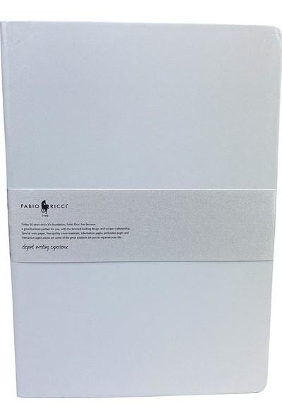 Fabio Ricci Elio 1046 Lastikli Noktalı Defter 19 x 25 cm Beyaz