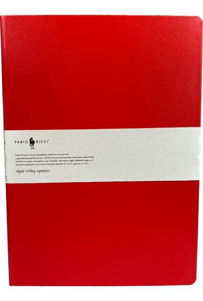Fabio Ricci Elio 1046 Lastikli Noktalı Defter 19 x 25 cm Kırmızı