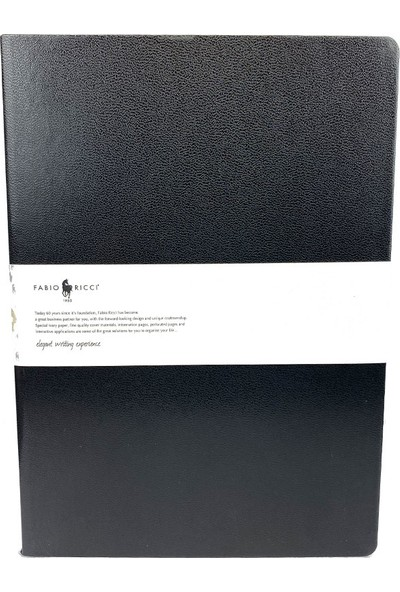 Fabio Ricci Elio 1046 Lastikli Noktalı Defter 19 x 25 cm Siyah
