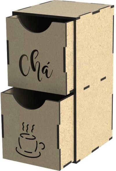 Tsd Dekorasyon Lazer Kesim Dekoratif Çay Kutusu