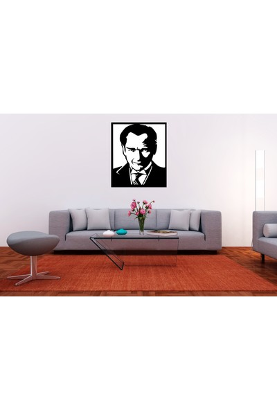 Tsd Dekorasyon Lazer Kesim Mdf Tablo Atatürk TSD003