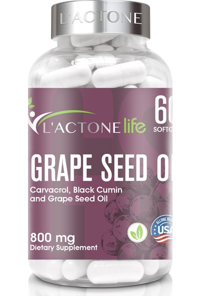 L'actonelife Grape Seed Oil 800 mg / 60 Kapsül