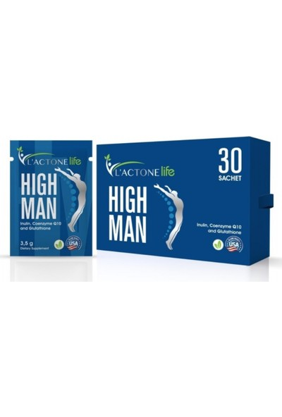 Lactonelife High Man (Inulin, Coenzyme Q10, and Glutathione)
