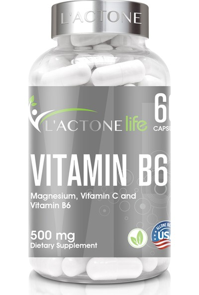 L'actonelife Vitamin B6 500 mg / 60 Kapsül