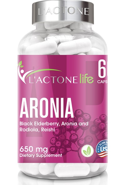 L'actonelife Aronia 650 mg / 60 Kapsül