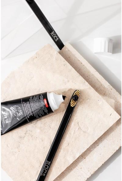 Rocs Black Edıtıon Kömür Özleri Ile Beyazlatıcı Diş Macunu ve Diş Fırçası Seti