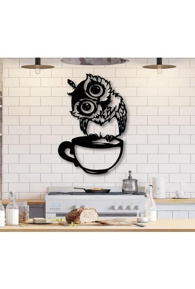 Tsd Dekorasyon Baykuş Fincan Üstü 3D Mdf Tablo