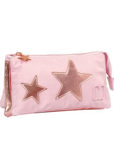 Marshmallow 3 Bölmeli Kalem Kutusu Stars Pink 63484