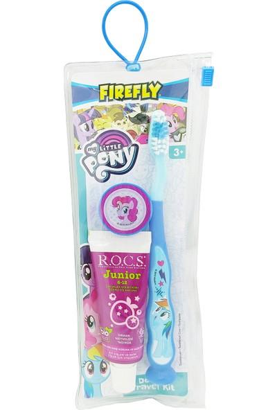 Rocs Junior Diş Macunu ve My Little Pony Diş Fırçası Çantalı Seyahat Seti – Mavi