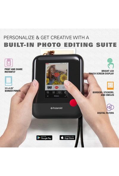 Zink Polaroid Pop 2.0 2'si 1 Arada 20MP HD Mini Fotoğraf Kamerası (Yurt Dışından)