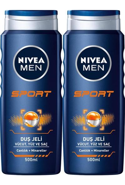 Nıvea Men Sport Erkek Duş Jeli 500 ml x 2