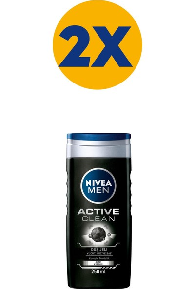 Nivea Nbc Duş Actıve Clean 250 ml x 2