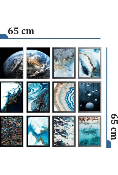 Dekorasna 12 Parça Çerçeve Görünümlü Mdf Tablo RMD17