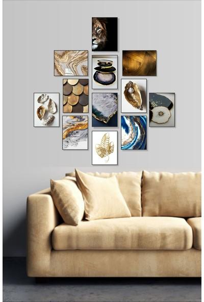 Dekorasna 12 Parça Çerçeve Görünümlü Mdf Tablo RMD04