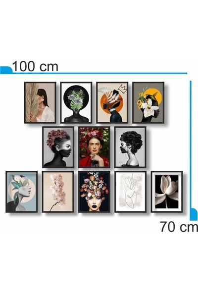 Dekorasna 12 Parça Çerçeve Görünümlü Mdf Tablo RMD05