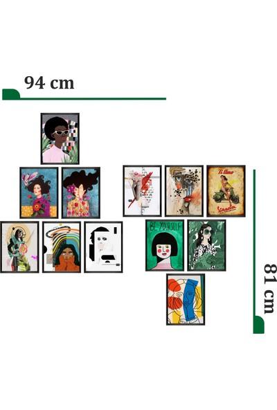 Dekorasna 12 Parça Çerçeve Görünümlü Mdf Tablo RMD21