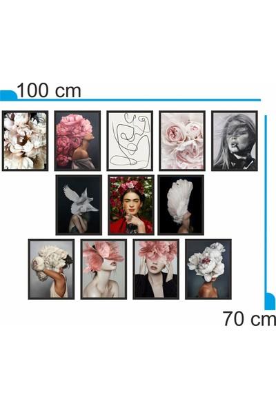 Dekorasna 12 Parça Çerçeve Görünümlü Mdf Tablo RMD06