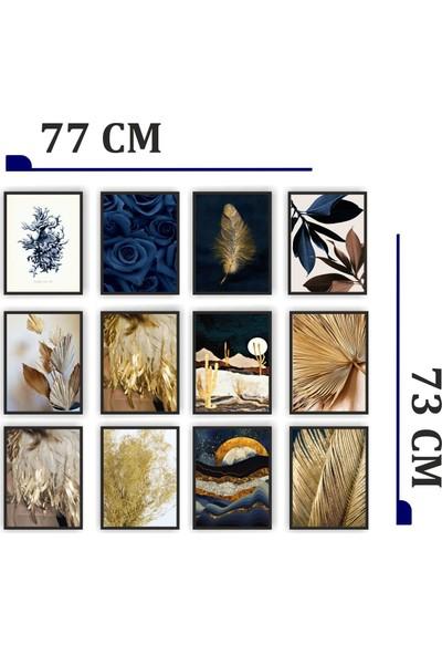 Dekorasna 12 Parça Çerçeve Görünümlü Mdf Tablo RMD12