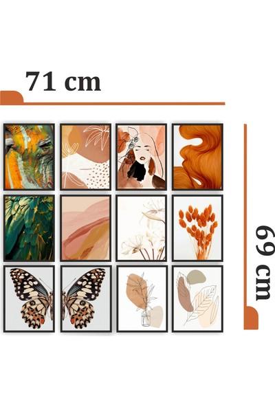 Dekorasna 12 Parça Çerçeve Görünümlü Mdf Tablo RMD13