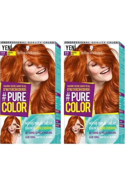 Schwarzkopf Pure Color 7-7 Tarçınlı Kek X2