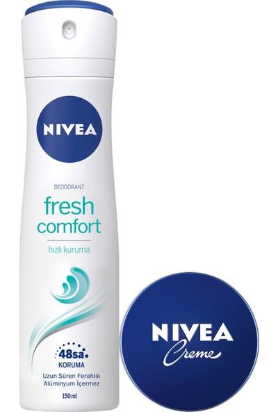 Nivea Fresh Comfort Kadın Deodorant 150 ml + Nivea Krem 30 ml