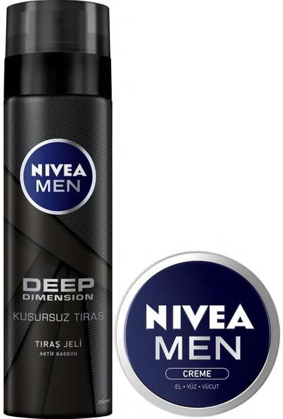 Nıvea Tıraş Jeli Deep + Men Crème 30 ml