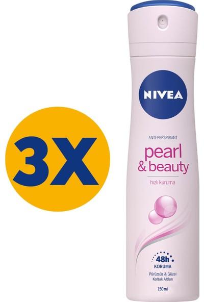 Nivea Pearl & Beauty Sprey Deodorant 150ml Kadın 3'lü Paket