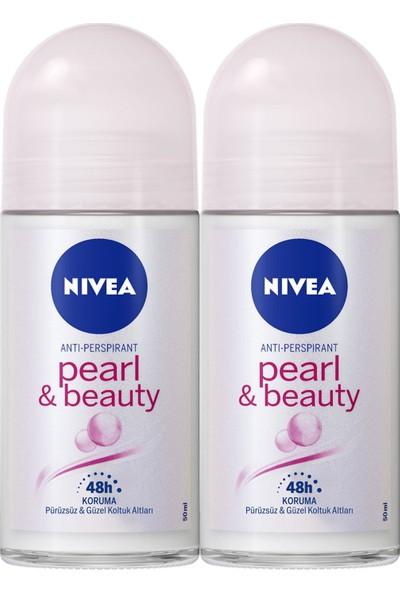 Nıvea Pearl & Beauty Kadın Deodorant Roll-On 50 ml 2'li