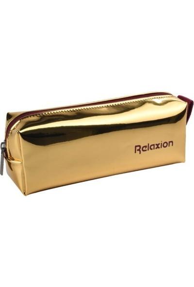 Relaxion Aynalı Lüks Kalemlik KOD:102 Metalik Gold