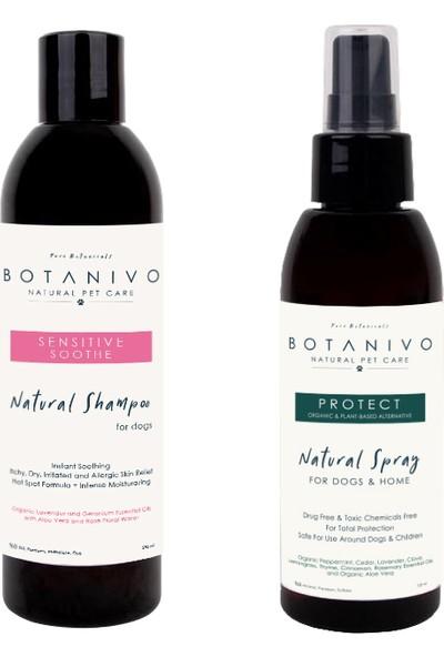 Botanivo Köpekler İçin Doğal Dış Koruma Sprey + Şampuan Seti