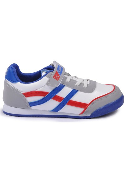 Cosby 3552 Beyaz-Kırmızı-Mavi Çocuk Spor Ayakkabı