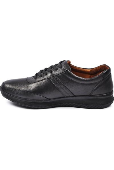 Walkway Memory Taban Deri Siyah Erkek Günlük Ayakkabı