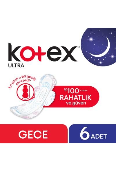 Kotex Ultra Gece Ped 6'lı