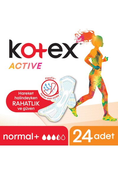 Kotex Active Normal Ped 24'lü