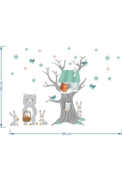 DekorLoft Orman Evi ve Arkadaşları Çocuk Odası Duvar Sticker CS-860