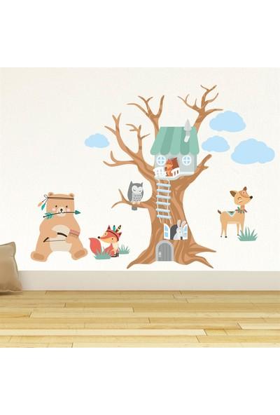 DekorLoft Orman Evi ve Arkadaşları Çocuk Odası Duvar Sticker CS-862