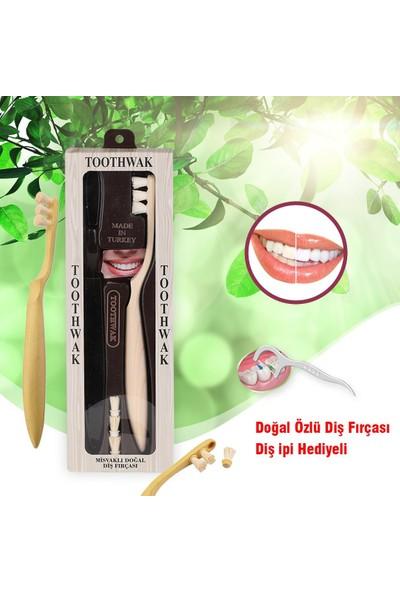 Toothwak Diş Ipi Hediyeli Toothwak %100 Doğal Misvak Başlıklı Diş Fırçası