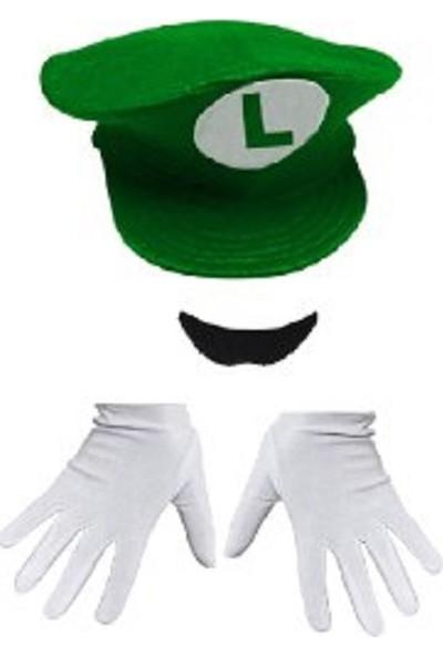 Kostümce Luigi Şapka Set Yetişkin