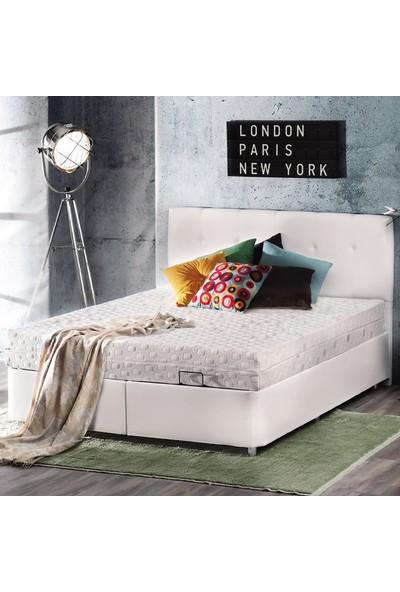 Yataş Bedding NEW CONFORM PLUS Baza Başlık Seti (Tek Kişilik - 120x200 cm Deri - Beyaz)