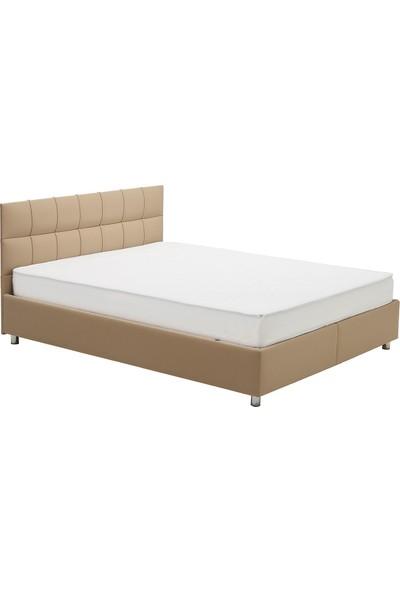 Yataş Bedding SOMNİ - DEEP Baza Başlık Seti (Tek Kişilik - 90x190 cm Deri - Sütlü Kahve)