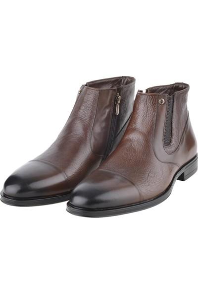 Pierre Cardin 11925251 Kahve Deri Klasik Erkek Bot Ayakkabı