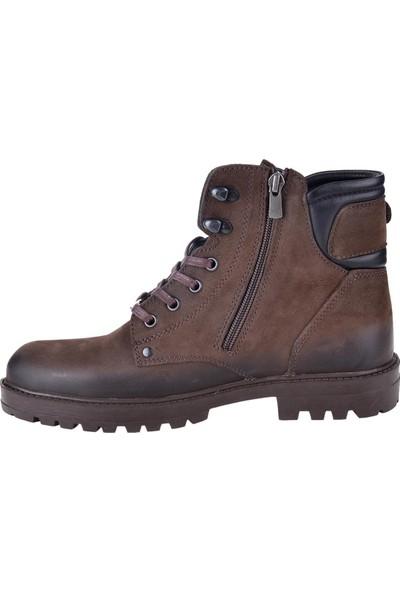Pierre Cardin 778000 Kahve Greyzi Deri Erkek Kışlık Bot Ayakkabı