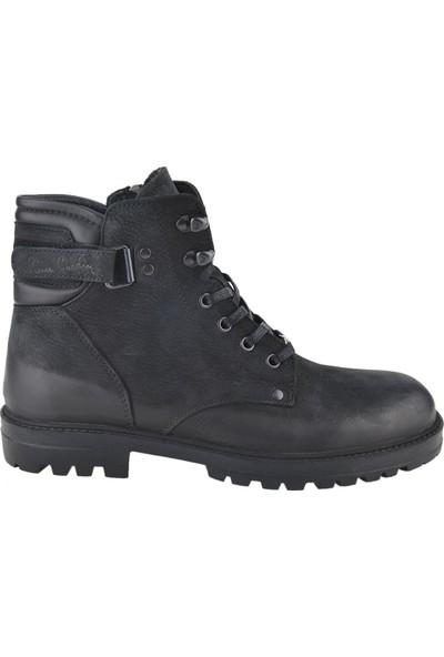 Pierre Cardin 778000 Siyah Greyzi Deri Erkek Kışlık Bot Ayakkabı