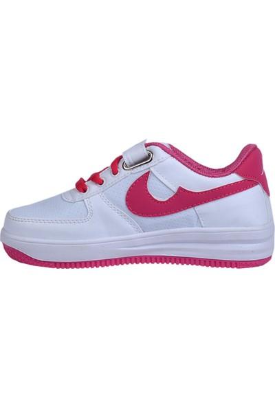 Phonex 79 Beyaz Cırtlı Cilt Kız Çocuk Spor Ayakkabı