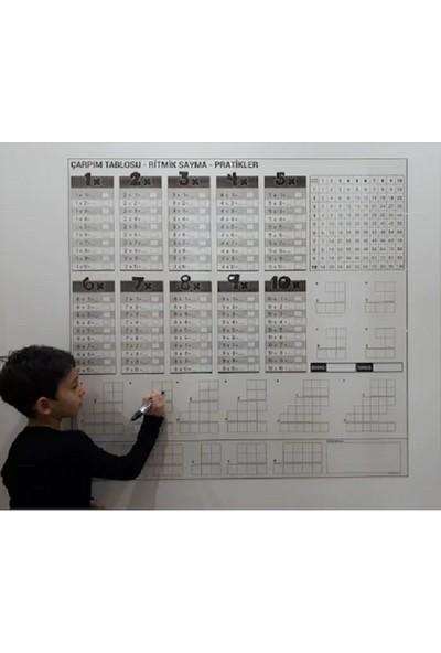 Evbuya Çarpım Tablosu Şeffaf Akıllı Kağıt Tahta Silgili Kalem