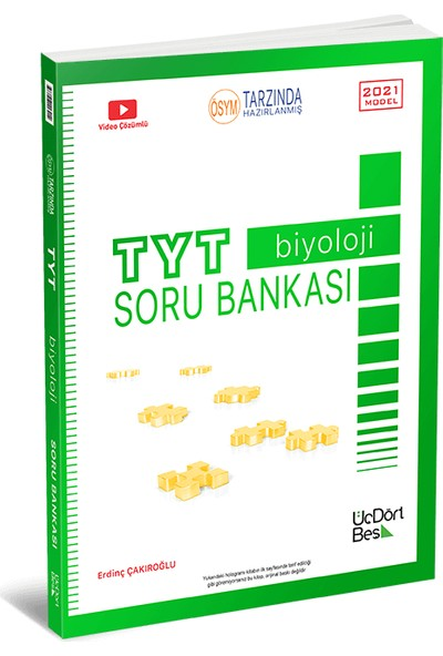 Üçdörtbeş Yayınları Tyt Biyoloji Soru Bankası