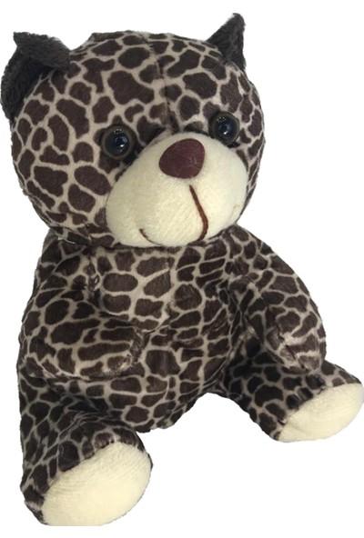 Stuffed Toys Sevimli Leopar Desenli Peluş Ayı 20 cm